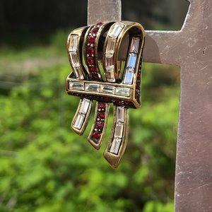 Heidi Daus Ribbon Candy Omega Earrings NWT